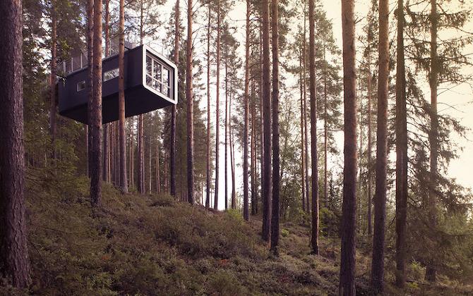 cabin exterior1 Treehotel in THISISPAPER MAGAZINE
